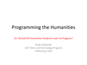 Programming the Humanities