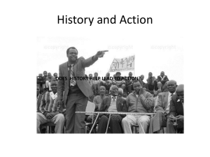 5) History teachers as activists.