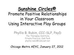 Sunshine Circles® Promote Positive Relationships in Your
