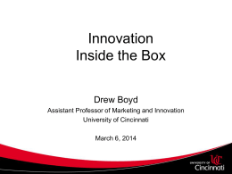 Drew Boyd`s Summary - Inside the Box - 03-6-14