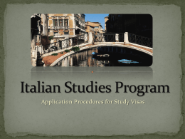 Italian Studies Program - Kansas State University