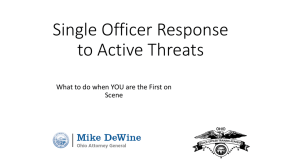 Single Officer Response to Active Threats