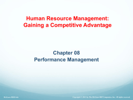 Ch.8 Performance management