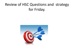 HSC QUESTIONS - General Education @ Gymea