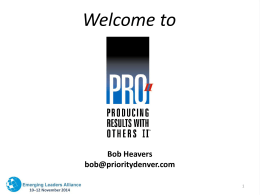 Social Styles – Bob Heavers ELA 2014