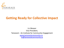 Adelaide – Getting Ready for Collective Impact