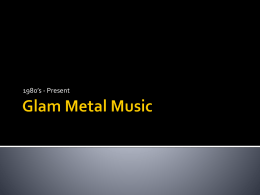 Glam Metal Music - Prairie Spirit Blogs