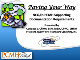 Paving Your Way NCQA Documentation - Bi
