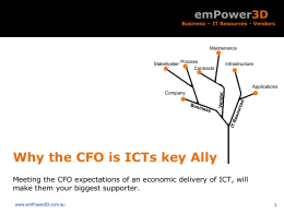 Why the CFO is ICTs key Ally
