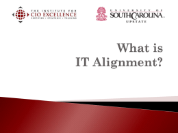 What is IT Alignment? - The Institute for CIO Excellence