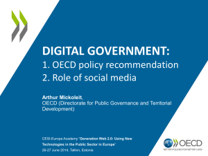 OECD policy recommendation and the role of social media