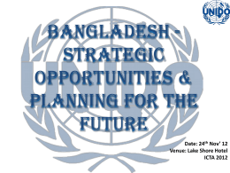 Strategic Opportunities & Planning for the Future