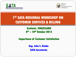 John Importance of Customer Satisfaction - SATA