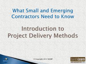 What Small and Emerging Contractors Need to