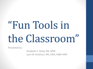 Fun Tools in the Classroom