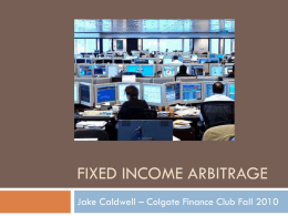 Fixed Income Arbitrage