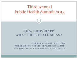 CHA, CHIP, MAPP – What does it all mean?