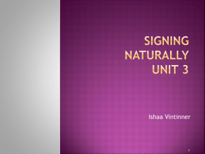 Signing Naturally Unit 3