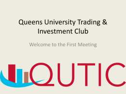 Introduction to QUTIC - Queen`s University Belfast
