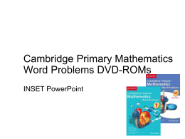 How to teach with Cambridge Primary Mathematics