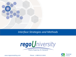 Interface Strategies and Methods