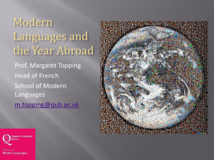Modern Languages Students and the Year Abroad