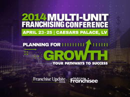 Event Marketing - Multi-Unit Franchising Conference