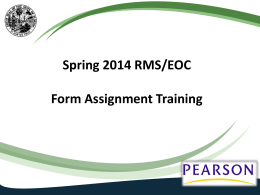 Form Assignment Training PowerPoint