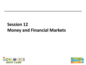 Money and Financial Markets