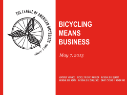 How to Make the Case that Bicycling Means Business