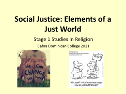 elements of a just world 2013