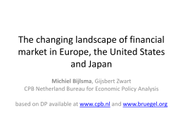 The changing landscape of financial market in Europe, the United