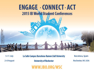 What is an IB World Student Conference?