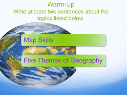Locate and label various places on a map.
