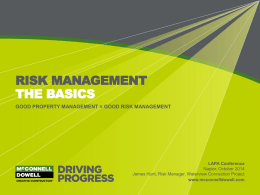 Risk Management The Basics