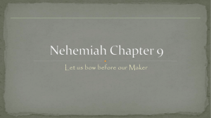 Nehemiah Chap 9 - Christ Baptist Church