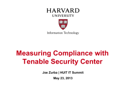 Measuring Compliance - Information Security