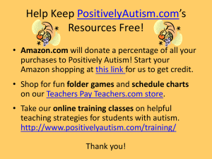 Help Keep PositivelyAutism.com*s Resources Free!