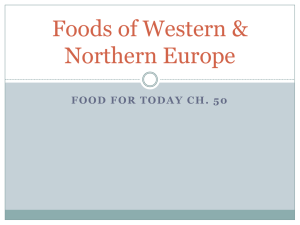 CH. 50 Foods of Western & Northern Europe - MHS-AHCA