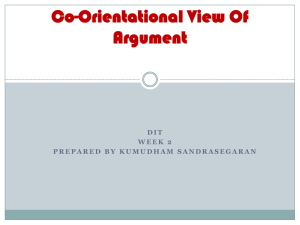 Co-Orientational View Of Argument