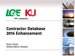 Contractor Database 2014 Enhancement