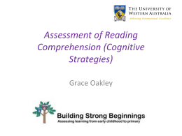 Assessment of Comprehension