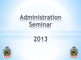 Administration Seminar 2013 - Returned Services League Australia