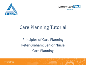 Care Planning Tutorial - Mersey Care NHS Trust