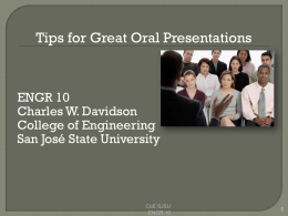 Communication_oral_S14 - Charles W. Davidson College of