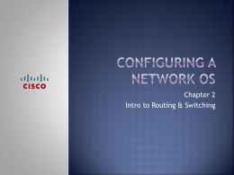Chapter 2 Configuring a Network OS