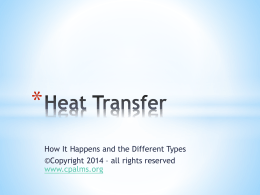 Heat Transfer Presentation