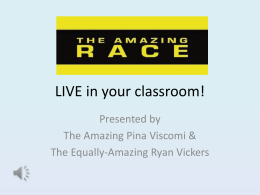 The Amazing Race: LIVE in your classroom!
