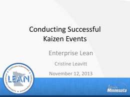 2013-Presentation-Leavitt - Performance Excellence Network
