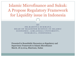 A Propose Regulatory Framework for Liquidity issue in Indonesia